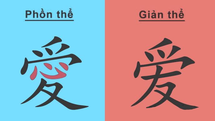 Tiếng Trung phồn thể và giản thể