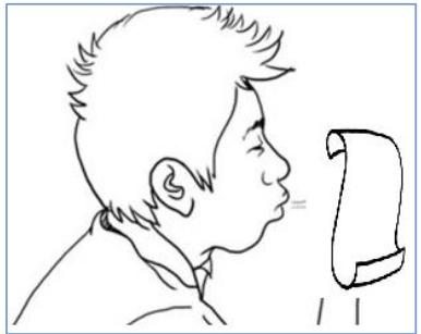 Cách kiểm tra những âm bật hơi - phương pháp thổi giấy
