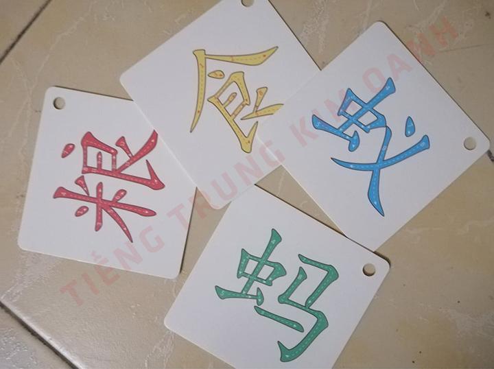 Học chữ Hán bằng thẻ flashcard