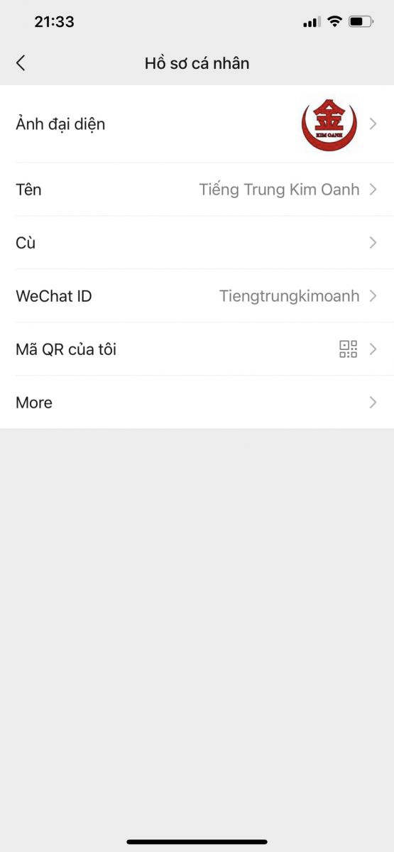 Thay đổi ID trên Wechat
