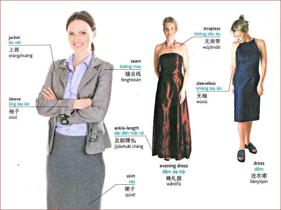 Tiếng Trung chủ đề trang phục nữ
