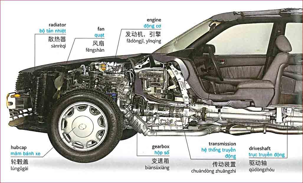 Tiếng Trung chủ đề xe ô tô